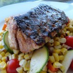 Blackened Red Fish with Grilled Corn Salad