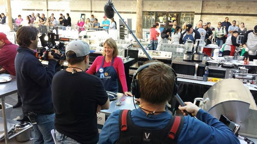 Josee at the world food championship filming and competing for the show